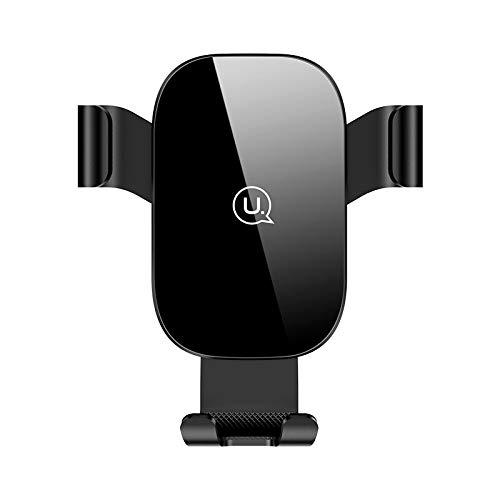 車載ホルダー エアコン吹き出し口用 クリップ オートホールド式 重力固定 落下防止 車スマホホルダー 360度回転 片手操作 スマートフォン用車載ホルダー iphone Android多機種対応 カーホルダー (スマホホルダー 車載)