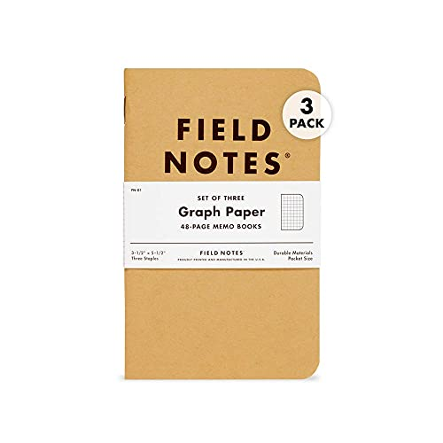 Field Notes: Original Kraft 3-Pack - Graph Paper - 48 Pages - 3.5' x...