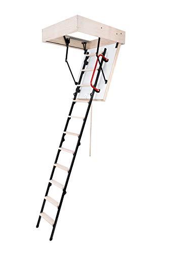 Bodentreppe MINI Plus Speichertreppe 80x60 Metallleiter Handlauf W/m2*K - 0,85