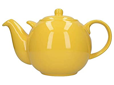 London Pottery Globe Extra Large Teapot with Strainer, 10 Cup (3 Litre), Yellow