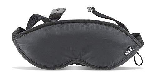 Lewis N. Clark Men's Travel Comfort Eye Mask with Adjustable Straps, Black, Single