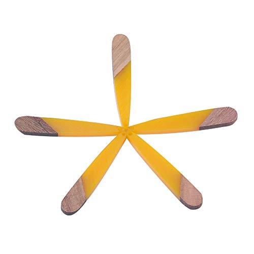 CHGCRAFT 50 pz Ciondoli in Legno Resina Resina A Goccia E Pendenti in Legno per Donna Collana Bracciali Creazione di Gioielli Artigianato Fai da Te Buco 1.2mm, Oro