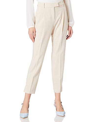 TOM TAILOR mine to five 1021559 MIA Straight Pantaln, 13523 Cargo Beige Melange, 38 para Mujer