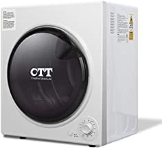 CTT 13 Lbs. 3.5Cu.ft 1500W 110-120V Electric Mini Portable Compact Laundry Clothes Dryer | Stainless Steel Tub - White