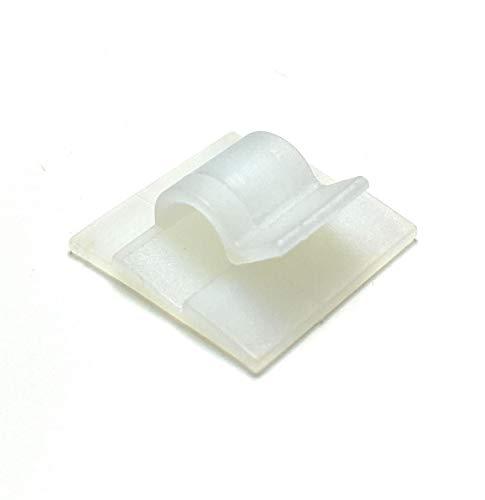 Mehrzweck-Kabel-Clips, selbstklebend, 50 Stück (5 mm, weiß)