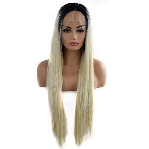 Postiches naturelles Fashian Mesdames Perruque Longue Raide Synthétique Cheveux Raides Synthétiques Devil Soie Long Wave Ponytail pour les femmes (Color : Photo Color, Size : 24 inch)