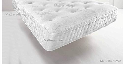 Mattress Haven Quality Aloe Vera Tuffted Abala Pocket Spring Memory Foam Topped Mattress - 2000 Pocket Springs - Medium / Firm4FT6 - Double