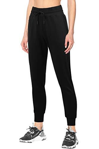 3W GRT Pantalon de Chándal para Mujer,Pantalones de Mujer,Pantalón Deportivo Mujer con Bolsillos,Pantalones Deportivos con Cordones para Mujer Yoga Fitness Jogger (Negro, M)