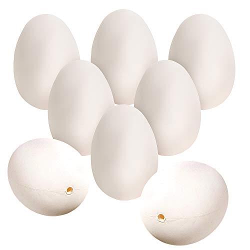 THE TWIDDLERS 100 weiße Oster Eier zum Bemalen & Dekorieren - Ideal für die Oster eiersuche - Kinder Party Dekoration - Perfekt für Basteln, Heim deko, Geschenke & mehr