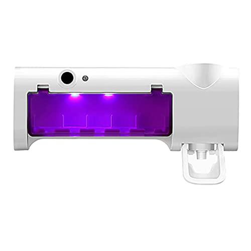 YHomU Soporte para Limpieza De Cepillos De Dientes Plástico Impermeable Carga por USB Plástico Universal Soporte para Limpiador De Cepillos De Dientes Organizador Universal Decorativo Blanco