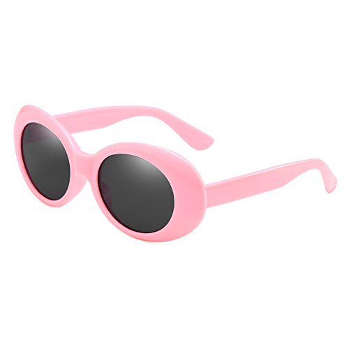 Kunfang Clout Goggle Oval Sonnenbrille Runde Linse Bold Retro Kurt Cobain Brille