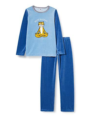Petit Bateau Pyjama aus Samt, für Jungen Gr. 2 Jahre, Alaska/Major