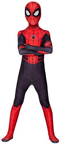 Miscoloor Ausgefallene Kostüm Spiderman Superheld Kostüm für Erwachsene Kind Karneval Halloween Cosplay Party Höhe ca 140-150cm
