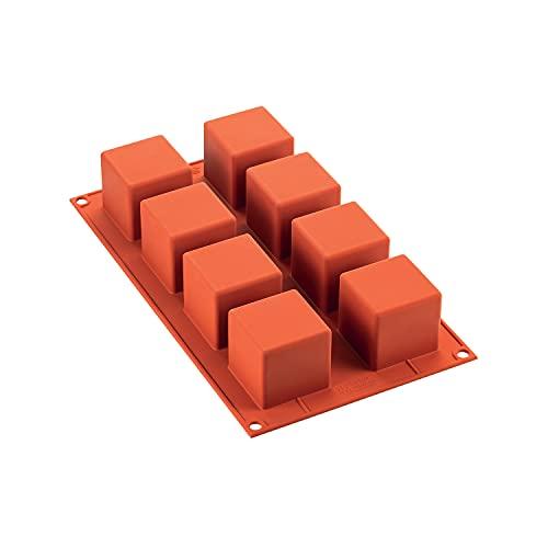 silikomart 26.104.00.0060 Stampi, Silicone, Rosso
