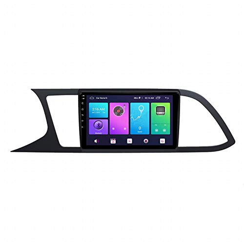 WHL.HH Video Receptor Multimedia Jugador por Asiento León 2013-2018 GPS Navegación Radio Estéreo WiFi Bluetooth 9 Pulgadas Pantalla táctil Cabeza Unidad Androide GPS Navegación,WiFi+4G:4+64G