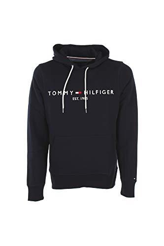 Tommy Hilfiger Tommy Logo Hoody 0752 Sudadera con Capucha, Azul (Sky Captain 403), M para Hombre