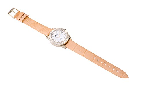 Heide Heinzendorff Einhängerpaar u006420006801Damen Armbanduhr, Lederband orange