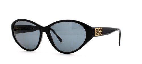 Chopard C518 6050 schwarze quadratische Vintage-Sonnenbrille für Damen