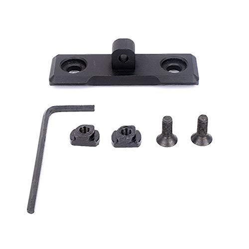 OAREA Adaptateur de Montage pour bipied M-Lok AR15 Adaptateur de bipied Compatible avec Rail mlok pour Harnais Harris Bipod Sling en Aluminium