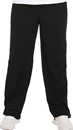 Henry Terre Reha Sweat Hose Herren Trainingshose Reißverschluss Jogginghose, Farbe:schwarz, Größe:M