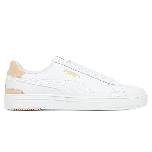Puma Serve Pro, Zapatillas Unisex Adulto, Blanco Shifting Sand Team Oro, 44 EU
