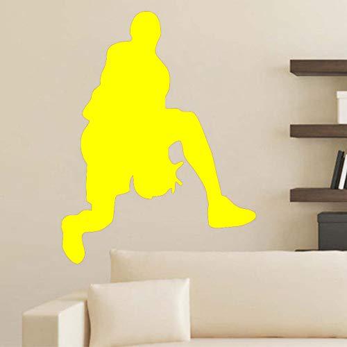 Basketball wandaufkleber abnehmbare vinyl tapete wand kinderzimmer sport raumdekoration ~ 1 46 * 59 cm