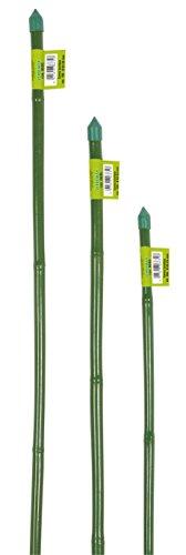 Verdemax 7571 Piquets de Support en Bambou revêtu de Plastique Longueur 90 cm Vert