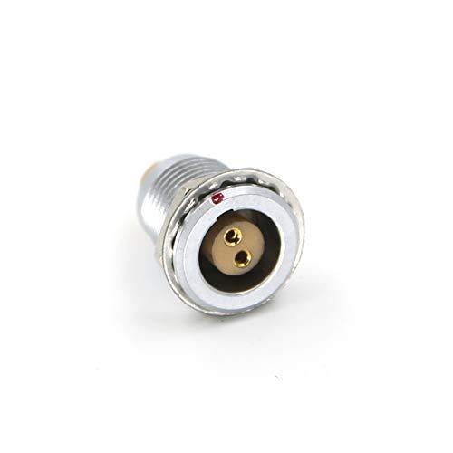 DRRI 1B Egg 2-polige Industriesteckdose mehrpolig, rund, Metallstecker