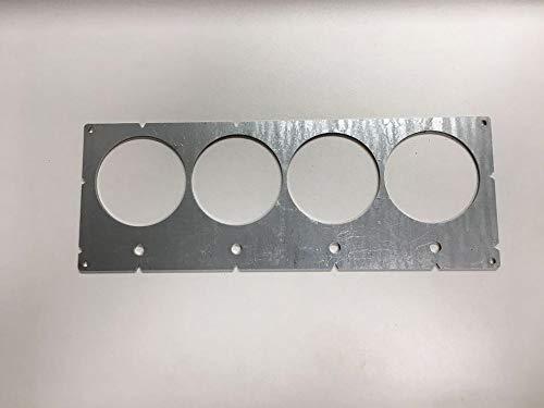 Bohrschablone für Hohlwanddosen Steckdosen 4 fach Trockenbau Stahl Verzinkt