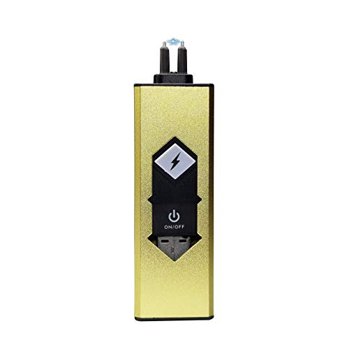 JUNTAI Electronic USB Single arc Rechargeable Plasma Lighter, igniter, Portable Windproof igniter, no Need to Carry Extra Charging Head, Light Candle (Gold)