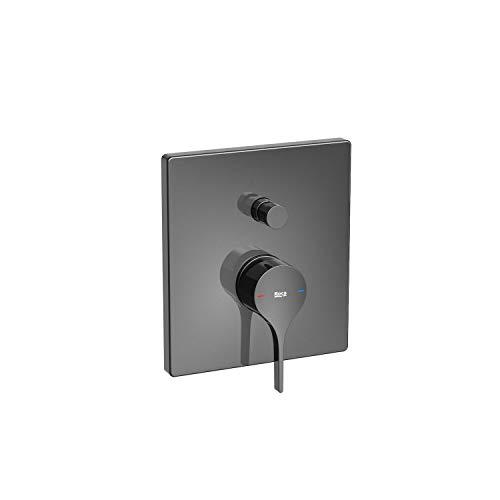 Mezclador grifo monomando empotrable para baño-ducha, serie Insignia, 18 x 16 x 18 centímetros, color negro titanio (Referencia: A5A0B3ACN0)
