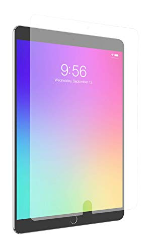 ZAGG InvisibleShield Glass+ VisionGuard - Blocks Harmful high-Energy Visible (HEV) Blue Light and 99% of UV Light from Your Device - Made for Apple iPad 9.7'