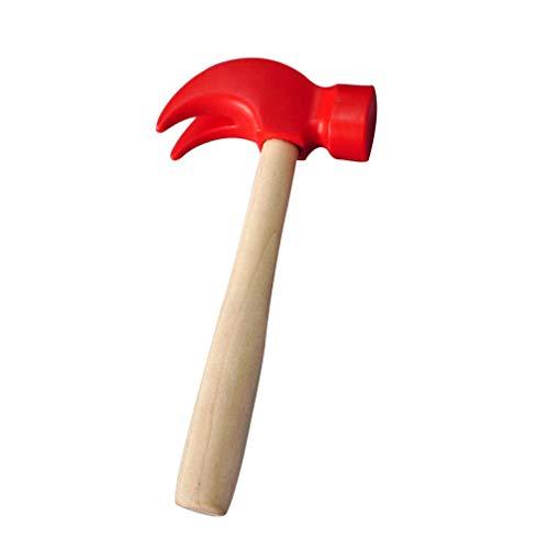 Toddmomy Kinder Holz Hammer Spielzeug Kinder Simulation Hämmer Wartungstools für Kleinkinder So Tun Als Würden Sie Lernspielzeug Geschenke Spielen (Rot)