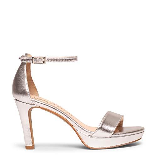 Zapatos miMaO. Sandalias de Piel Hechas en España. Sandalias con Tacón y Plataforma Cómodas. miMaO Fiesta