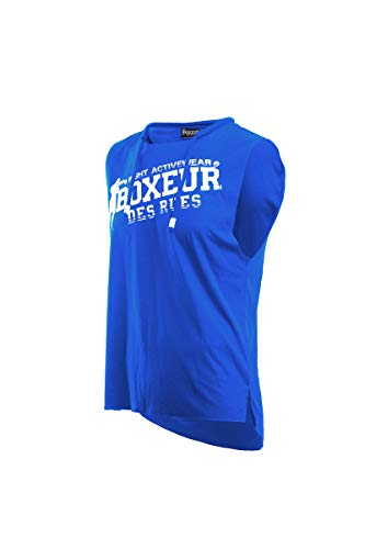 BOXEUR DES RUES - Round-Neck Tank Top in Royal Blue with Raw-Cut Edges, Man