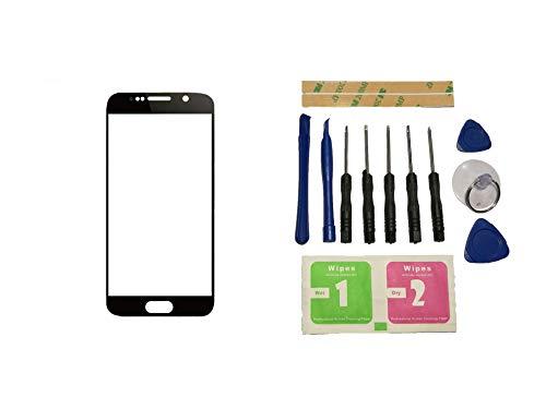 Flügel voor Samsung Galaxy S7 G930 G9300 G930F SM-G9308 Front Buitenglas Lens Zwart (Geen Digitizer Geen LCD-scherm) Reparatie Vervangend Deel + Gereedschap + Kleefmiddel