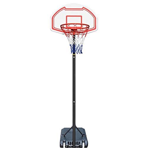 ZAIHW Ajustable Portátil de Altura Ajustable del Soporte del aro de Baloncesto banderín de Acero del Sistema con el Tablero Trasero y Ruedas for niños Adolescentes Jóvenes Interior al Aire Libre