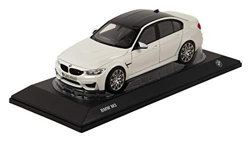 Originele BMW M3 (F80) miniatuur modelauto schaal 1:18 wit metallic