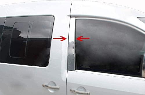 para CADDY 2003+ MINIVAN cromo puerta ventana pilar cubierta de acero inoxidable moldura 2 piezas