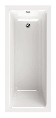 'aquaSu® Acryl - Badewanne linHa I 160 x 70 cm I Weiß I Wanne I Badewanne I Bad I Badezimmer