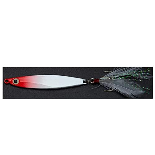 XDQ 6 unids cebos de Pesca Dura Fake señuelo con Gancho de Plumas, Pesca de Pesca de Pescado Real, Cebo Artificial para Agua Salada de Agua Dulce (Color : D, Size : 5.2CM 10G)