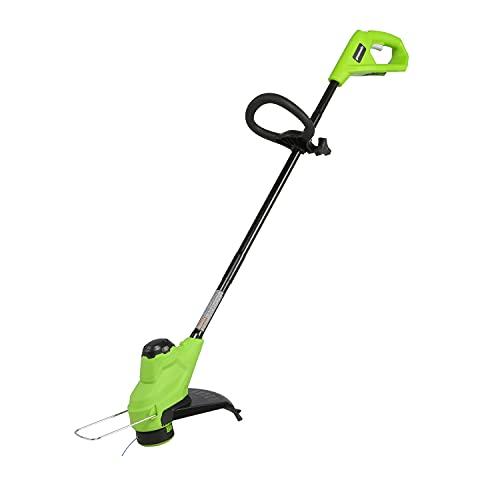 Greenworks Tools Tagliaerba a batteria da 25 cm Tagliaerba a batteria agli ioni di litio da 24 V (avanzamento automatico del filo, albero in 3 parti)