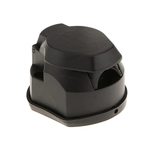 Abkendg Enchufe del Remolque Conector Adaptador de Enchufe de Barra de Remolque de 12 Pines 12V con Cubierta Negra Piezas de Remolque