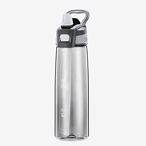HQ2 La Llave de Botella Deportiva de 750 ml se Abre, a Prueba de Fugas y Reutilizable, Adecuada para la Aptitud física, Ejercicio, Ciclismo, al Aire Libre, Yoga liviano, Duradero