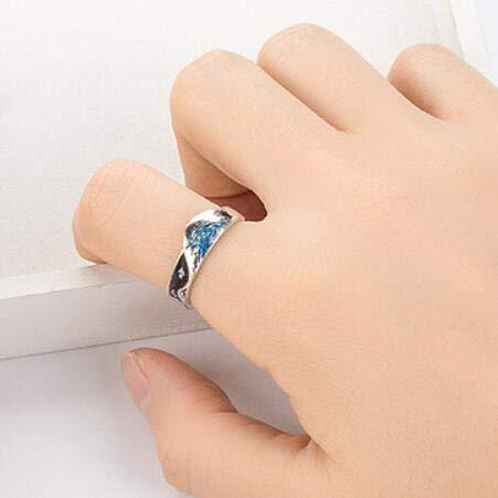 weichuang Bonito anillo con memoria, diseño de pájaros voladores, para parejas, dulces...