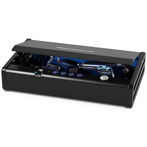 SentrySafe QAP2BLX Biometric Gun Safe with Interior Light, 2 Handgun Capacity