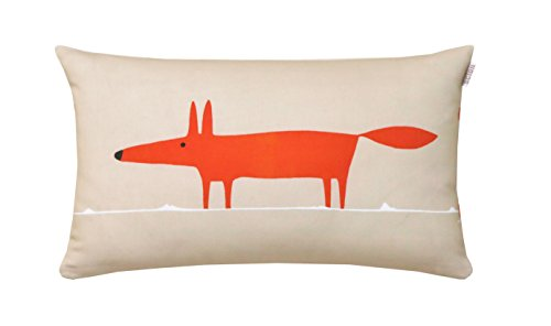Scion Mr Fox Set of Living Kissen mit Baumwolle 30 x 50 cm, Mandarin