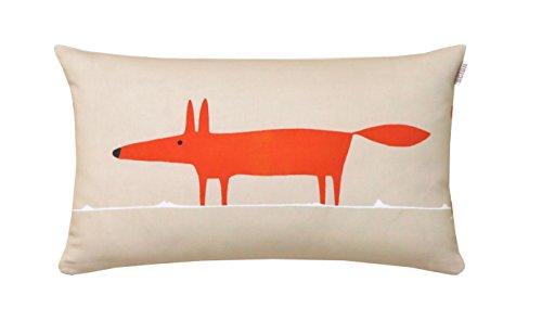 Scion living Mr Fox Housse et Coussin, Coton, Mandarine, 30x50 cm