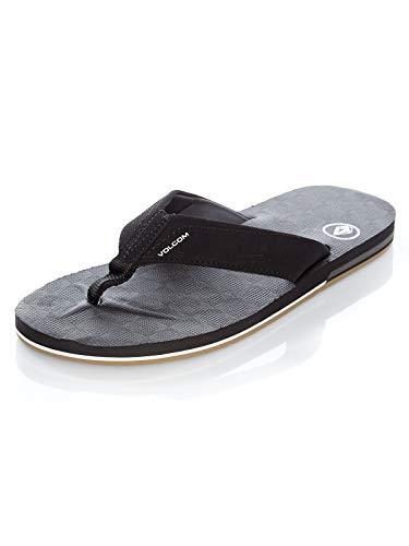 Volcom Men's Victor Flip-Flop Sandal, Black, 11