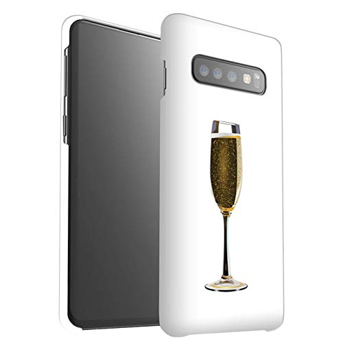 eSwish telefoonhoesje/Cover/Skin/SG-3DSWG / Sass/Sassy Collection Samsung Galaxy S10 Plus Glass Bubbly/Champagne